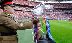 The League Cup on show at Wembley